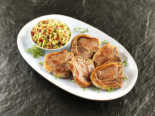 Lamb Centreloin Chops with Harissa Cous Cous